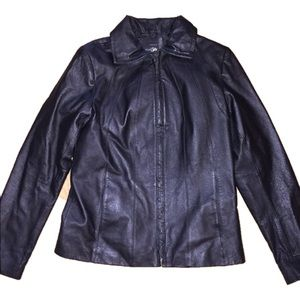 EAST 5th genuine leather jacket women's small