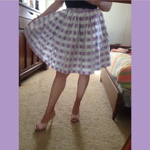 Dresses & Skirts - Vintage 1950's checkered circle skirt lamé