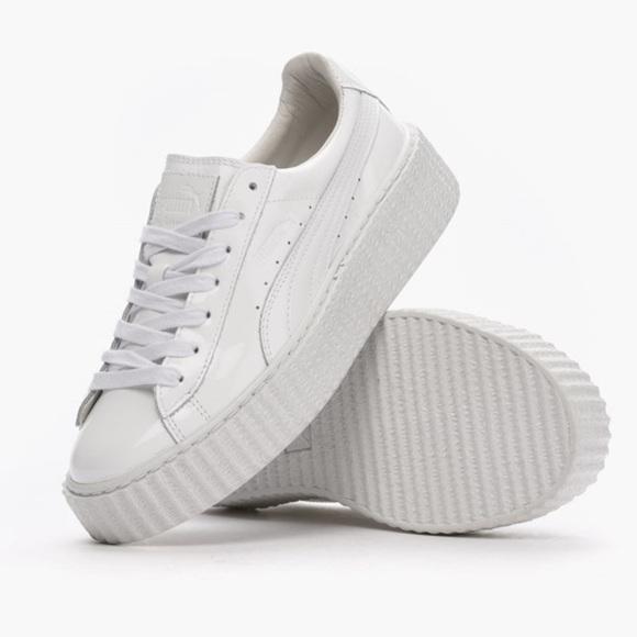 9ab57484ee28 fenty Shoes - rihanna basket glo creepers white fenty x puma