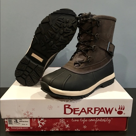 """eca61077f41 Bearpaw Winter Boots """"Nelly"""" Dark Brown Lace Up NWT"""