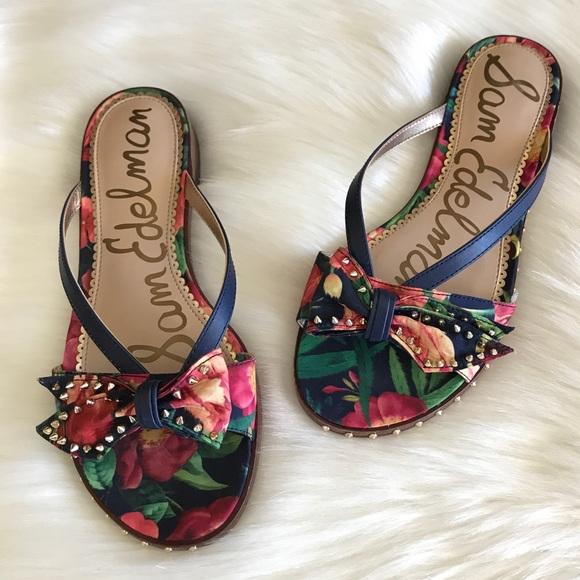 cb5ec4d13 Sam Edelman  Dariel  Bow Studded Sandal. M 59d1859b99086a00b80b9aac