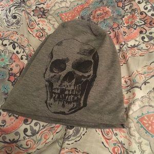Accessories - Grey slouchy skeleton hat