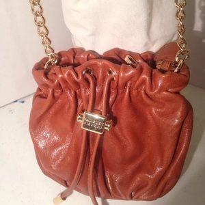 Badgley Mischka Brown Leather Crossbody