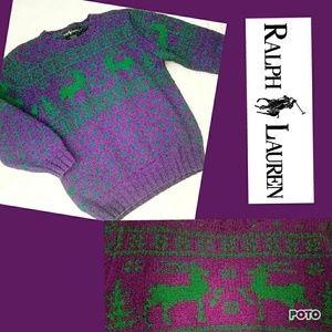 Vintage Ugly Christmas sweater Ralph Lauren Large