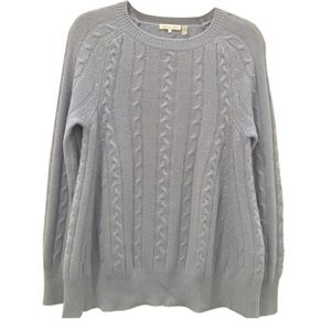 Minnie Rose Oversized Cable Knit Cashmere Sweater