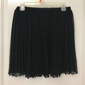 Black Pleated Accordion Skirt