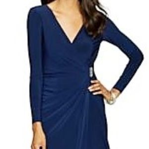 NWT American Living Navy gathered dress