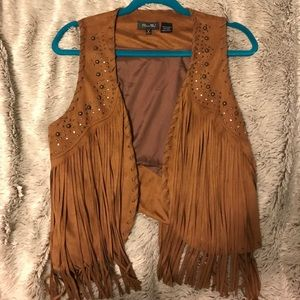 NWOT Fringe {Miss Me} Vest