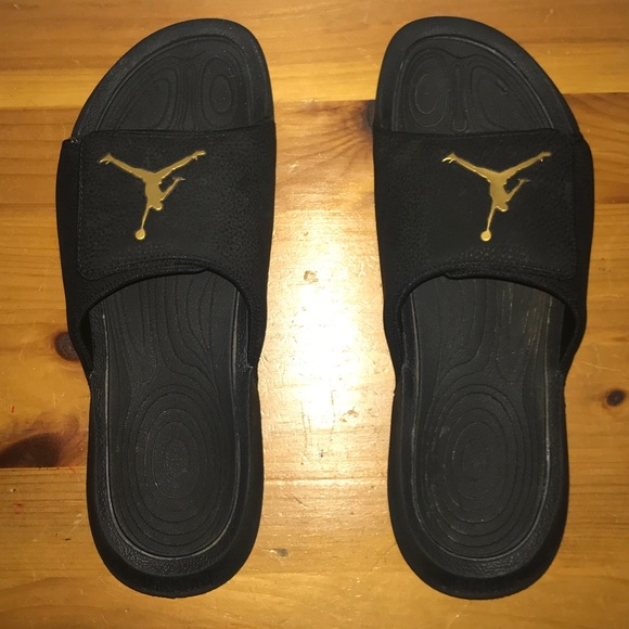 c4f02cd07d18 🔥Jordan HYDRO 6 Slides Black Gold Size 11 🔥