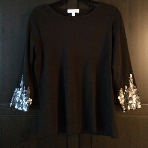 Sequin Sleeved Top