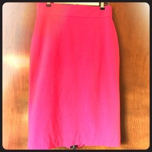 Dresses & Skirts - Pink pencil skirt with back zipper