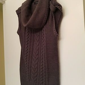 Nine West Sweaters - Nine West Gray large cowl neck sleeveless sweater