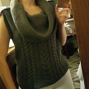 Nine West Gray large cowl neck sleeveless sweater