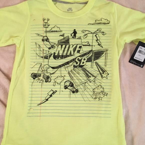 10ed15036 Nike Shirts & Tops | Nwt Sb Short Sleeve Tee Color Is Volt Ice ...