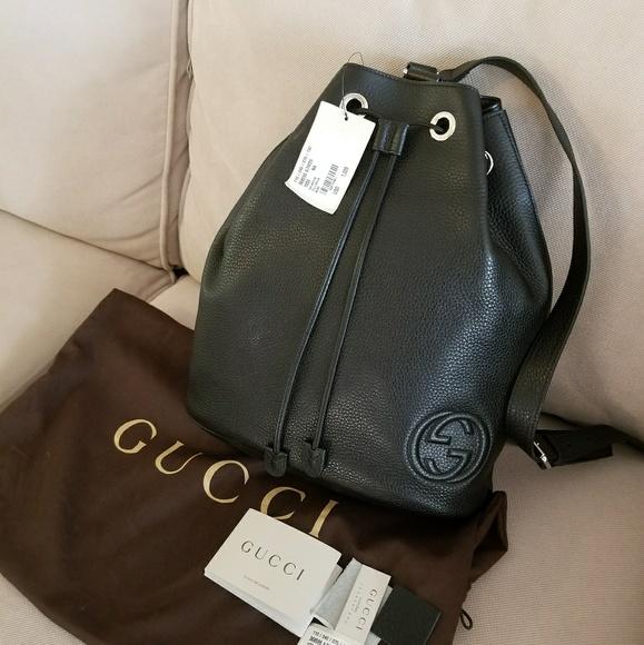 f06d15ce4b0b58 Gucci Handbags - Gucci Soho black leather backpack w/receipt