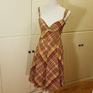 Halogen fall plaid dress