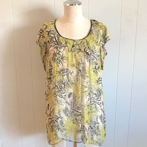 Plenty by Tracy Reese Printed Silk Top