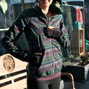 cea55938e50 lululemon athletica Jackets & Coats - RARE Lululemon Hustle Jacket Poncho  Stripe ...