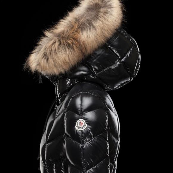 Moncler Jackets Coats Black Coat With Fox Fur Hood Poshmark