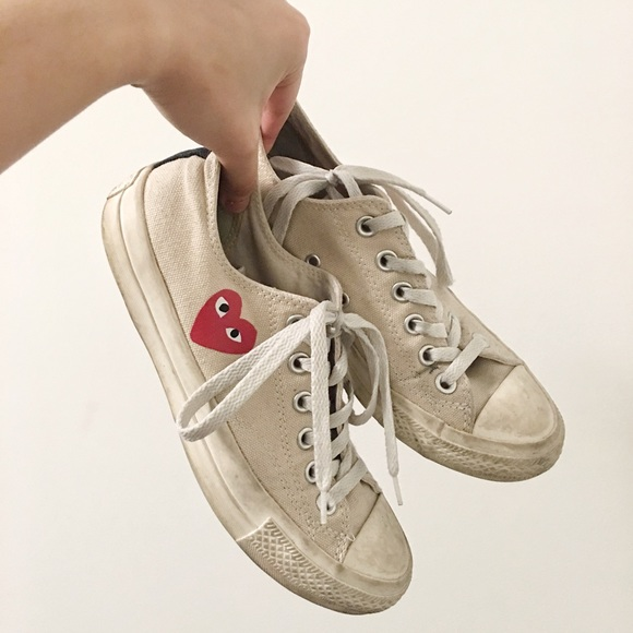 Comme des Garcons Shoes - RARE - CDG Low Top Converse (White) FIRM 7404f05fc