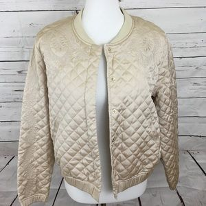 H&M Satin Quilted Bomber