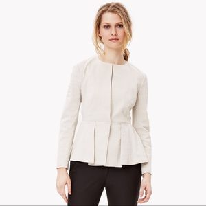 NWT Theory Linen Blend Stretch Peplum Jacket