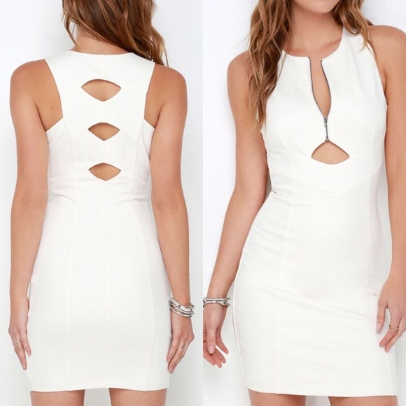 "Adelyn Rae Dresses & Skirts - Adelyn Rae ""Quite the Catch"" Ivory Bodycon Dress"