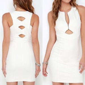 "Adelyn Rae Dresses - Adelyn Rae ""Quite the Catch"" Ivory Bodycon Dress"