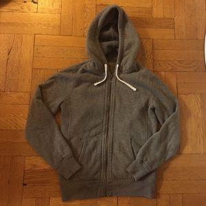 J crew vintage fleece zip up hoodie sweatshirt