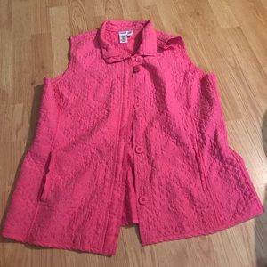 Cold water creek vest, pink, size large