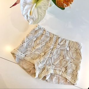 Embossed Coil Patterned Shorts