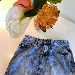 Staple Acid Wash Denim Skirt