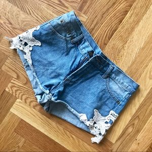 Pants - 🔵Must Have Staple Lace Detailed Denim Shorts🔵
