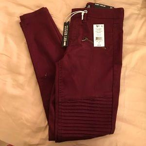 Brand new burgundy pants size 26