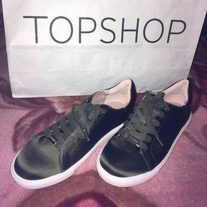 TOPSHOP Green Catseye Sneaker