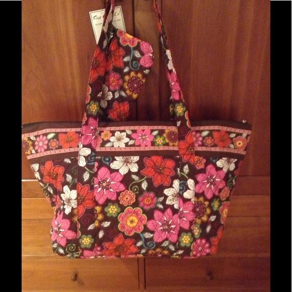 82% off Vera Bradley Handbags - Vera Bradley like quilted tote bag ... : quilted bags like vera bradley - Adamdwight.com