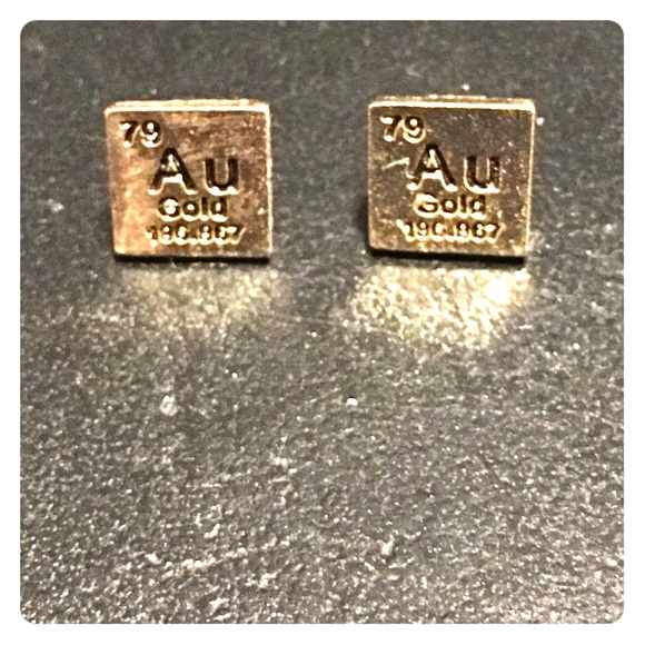 Jewelry periodic table gold au earrings poshmark periodic table gold au earrings urtaz