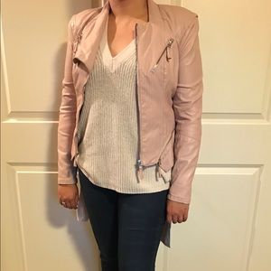 Blank NYC faux leather jacket - blush