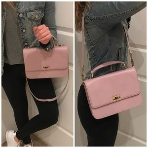 JCREW lilac structured leather purse
