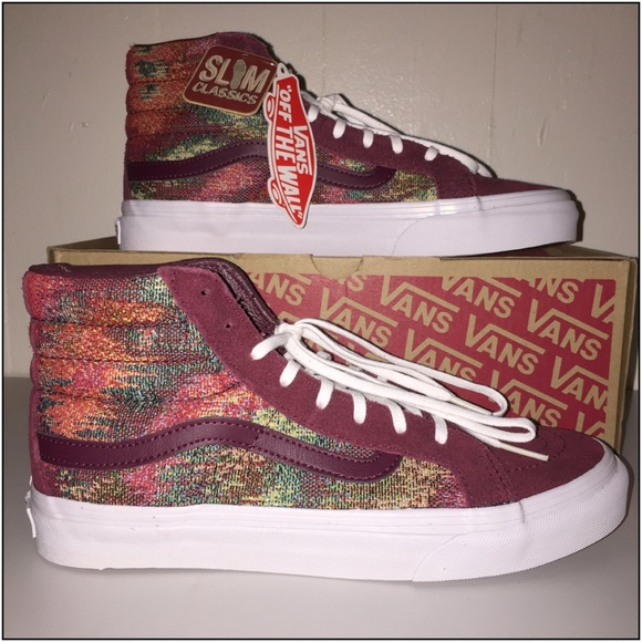 4dff6573469 NWT Vans SK8-Hi Slim Italian Weave Port Royal