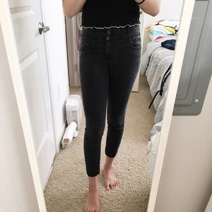 high-rise cropped jegging