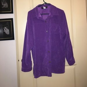 Really soft purple button down with pocket -18W