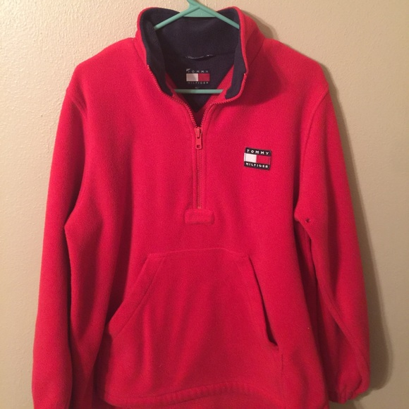 a45b10cd 90s Tommy Hilfiger Fleece Red Rare vintage men's M.  M_59d1d06978b31ca0650d2bc9