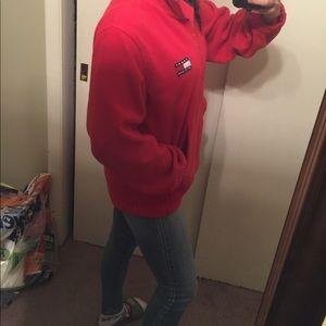 Tommy Hilfiger Shirts - 90s Tommy Hilfiger Fleece Red Rare vintage men's M