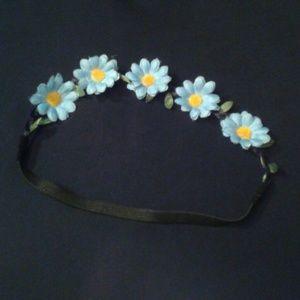 Blue Flower Crown/Headband
