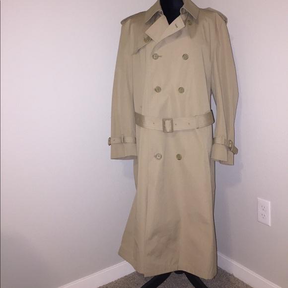 distinctive design large assortment big clearance sale Oleg Cassini Men's trench rain coat NEW 42 REG
