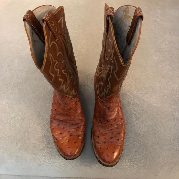 91885d78242 Tony Lama El Rey Collection Ostrich Cowboy Boots