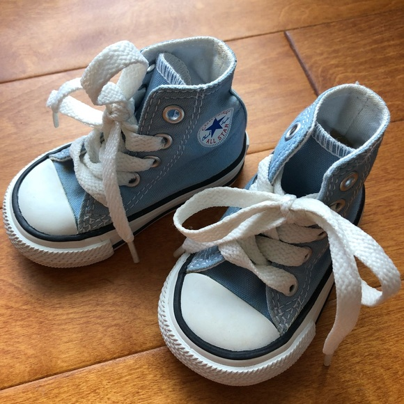 Converse Other - Infant Converse Baby Blue Hard Sole Shoes cbaba5917