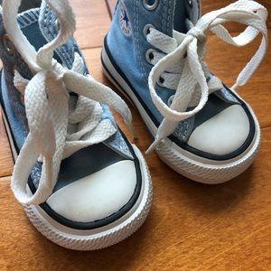 959104617dd Converse Shoes - Infant Converse Baby Blue Hard Sole Shoes