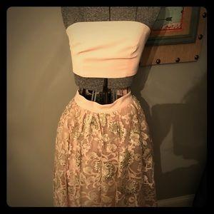 Bebe two piece blush dress